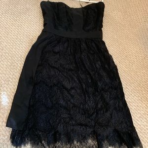 Madewell Strapless Lace Black Dress